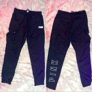 PINK ULTIMATE Black Track Pants